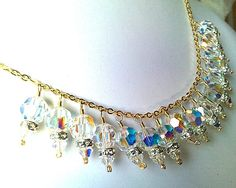 Collection Grace Necklace - Bridal Gift, Jewelry Gift, Romantic Vintage Style Wedding Jewelry. $72.00, via Etsy.