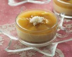 Crème caramel au lait de coco