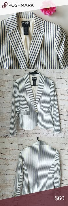 Very cute Blazer Super cute pin striped blazer. Can dress it up or go casual. Lord & Taylor Jackets & Coats Blazers