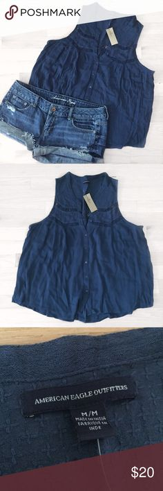 American Eagle Tank Top This super cute tank top is very flowy and perfect for summer! It is brand new and never been worn  American Eagle Outfitters Tops Blouses