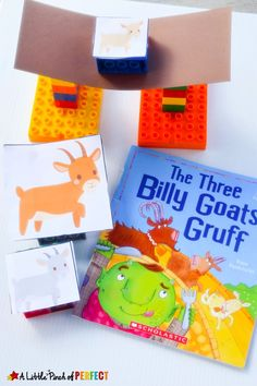 The Three Billy Goats Gruff STEAM Bridge Building Activity for Kids: With a little engineering and creativity kids can help the Three Billy Goats Gruff escape by building a bridge strong enough. This is a fun hands on activity. (preschool, kindergarten, book extension, spring) Check out all the 28 Days of STEAM Projects for Kids for fun science, technology, engineering, art, and math activities!