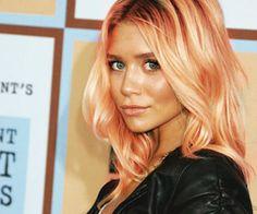 Peach/Pink toned hair