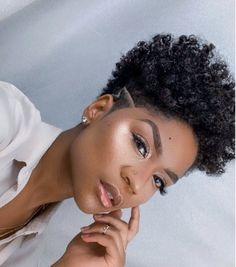 4c Natural Hairstyles Short, Tapered Natural Hair Cut, Big Chop Natural Hair, Natural Hair Short Cuts, Shaved Side Hairstyles, Natural Hair Cuts, Short Sassy Hair, Short Grey Hair, Natural Hair Styles