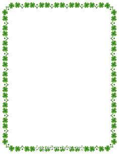 Four Leaf Clover Border
