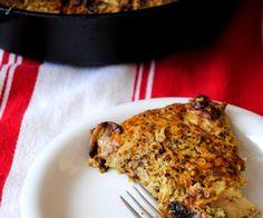 Missing pasta and casseroles on paleo? Miss no more! Pesto Chicken Spaghetti (squash) Bake