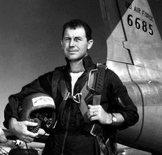"""""""In 1947, when Chuck Yeager broke the speed of sound barrier for the first time in history he was wearing his Rolex Oyster as seen in the photo below."""" -- RolexBlog #rolex #oyster #flight #airforce #yeager #military #cool"""