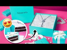 This Tiffany's Box Cake by Yolanda Gampp of How To Cake It is the perfect gift for anyone who loves a little forget-me-not blue! It's a super easy recipe to follow and would make a very sweet Valentine's Day gift. Chocolate Cake Icing, Ultimate Chocolate Cake, Parisian Cake, Candy Wafers, Drop Cake, Black Food Coloring, Buttercream Decorating, Black And White Quilts, Recipes