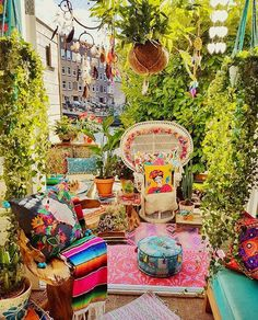 Colorful boho lifestyle Funky outdoors by the inspirational milagrosmundoamsterdam hellip