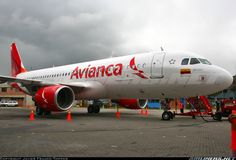 Avianca's new livery. This is part of the Avianca rebranding of TACA Airlines, AeroGal and Tampa Cargo.