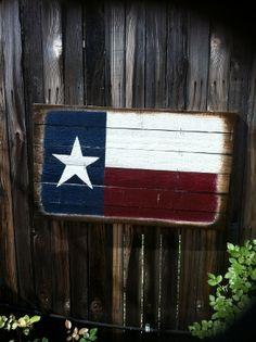 weathered Texas flag