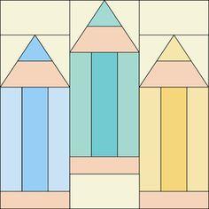 Splendid Sampler Block 42 – Pencils_Jane Davidson