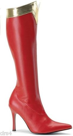 Wonder Knee High Adult Boots - Red Superhero - Women's Size 8 @Hannah Clark These would be stunning with your wedding dress!