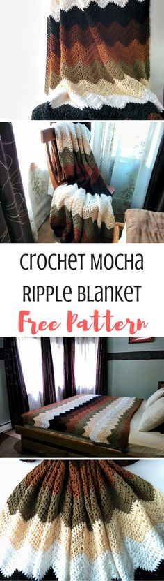 This tutorial and pattern for a crochet chevron throw is perfect for everyone with its simple stitches, easy pattern repeat and endless color options.
