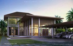 Tropical Resort Style แบบบ้านสองชั้น แบบบ้านชั้นเดียว ไสตล์ทรอปิคอล ทรอปิคอลรีสอร์ท : แบบบ้านสไตล์ทรอปิคอล แบบบ้านสองชั้น 3 ห้องนอน 4 ห้...