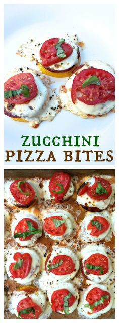 Zucchini Pizza Bites for game day or easy appetizer - gluten free!