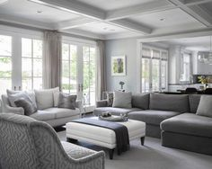 1000+ ideas about Grey Family Rooms on Pinterest | Dream houses ...