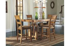 Light Brown Krinden Counter Height Dining Room Table View 3