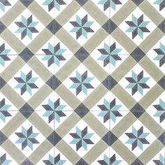Blanc, gris bleuté léger, gris ciment soutenu, lin moyen gris chaud