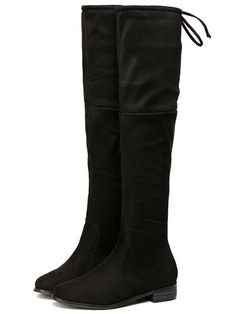 Black Zipper Over The Knee Boots 42.92
