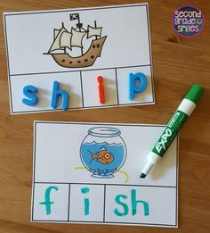 Hands-on digraph activities designed to help your students practice segmenting and spelling words with beginning and ending digraphs th, sh, ch, and wh. These activities focus on CCVC, CVCC, and CCVCe words and work well as word work center activities in first grade and second grade. $