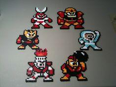 Mega Man 1 cuentas Perler Sprite Art Robot Masters (piezas individuales)