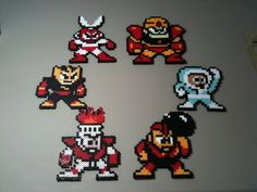 Here we have the six Robot Masters from the very first Mega Man game: Bomb Man, Cut Man, Elec Man, Fire Man, Guts Man, and Ice Man! This listing