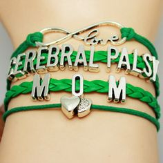 I wonder if I can make this myself. Free Family Love Cerebral Palsy Awareness Bracelet - Mom