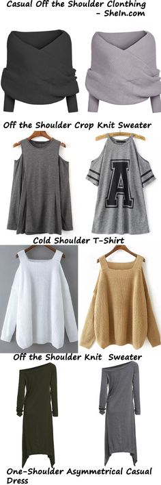 Casual Styles - Off The Shouler Clothing from SheIn - High Quality with Low Price  From US$8.99