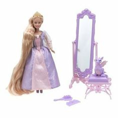 Barbie Princess Mini Kingdom Mini Barbie Rapunzel Doll by Mattel. $34.99. From the Manufacturer                Barbie Mini Kingdom? dolls are beautiful miniature-scale versions of Barbie? doll as Rapunzel, Odette?, Anneliese? and Erika? and each one comes with an accessory inspired by her story and her iconic pet. Doll cannot stand alone. Each sold separately, subject to availability.                                    Product Description                Rapunz...