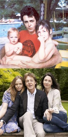 Paul McCartney  and Stella and Mary McCartney.   ~Via Fuji Fulgueras
