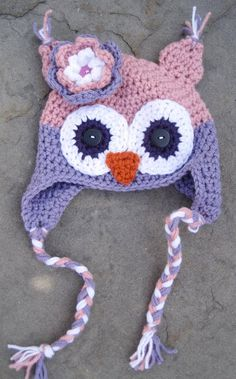 Handmade Crochet Owl Hat - perfect for infants, kids and adults!    http://www.etsy.com/shop/BumbleBeedsBowtique