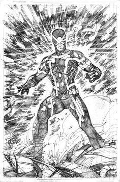 Brett Booth - Comic Vine  Cyclops by Brett Booth