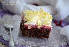 Prajitura de ciocolata cu zmeura si frisca Cake, Desserts, Food, Deserts, Tailgate Desserts, Kuchen, Essen, Postres, Meals
