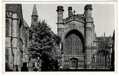 Chester Cathedral England Vintage Postcard 1964 Used