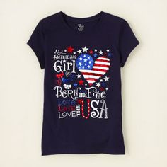 girl - graphic tees - American girl graphic tee | Childrens Clothing | Kids Clothes | The Childrens Place