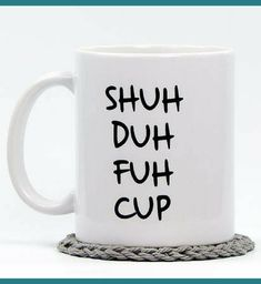 I laughed entirely too hard at this coffee cup!!! Kitchen decor, funny gift idea, home decor, coffee mug #ad