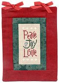 Peace Joy Love - Lizzie Kate Counted Cross Stitch Designs - free patterns