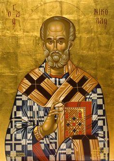 Father Christmas, Prim Christmas, Retro Christmas, Russian Icons, Spirited Art, Byzantine Icons, Art Carved, Saint Nicholas, Old Fashioned Christmas
