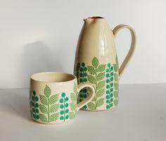 "Katrin Moye - Patterned Ceramic series ""Melanie"" - 70's inspired."