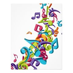 Cool Colorful Music Notes Clipart - Free Clip Art Images