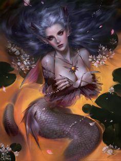 Mingzhu Yang est un illustrateur chinois basé à Wuhan. Nous vous proposons de découvrir 20 chefs-d'oeuvre de l'artiste. Les couleurs sont incroyables et les détails fourmillent. De nombreuses peintures digitales ont été réalisées pour le jeu Legends of the Cryptids. Visitez son portfolio et son ArtStation pour en voir plus.