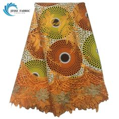 Newest African Cord lace fabric High quality 6 Yards Swiss Cotton Embroidered African wax cloth Lace fabric with Stones