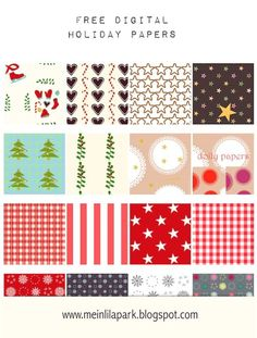 Free Digital Holiday Paper Round-Up