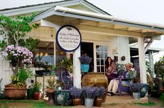 Ali'i Kula Lavender Farm, Maui, HI - this lavender farm with a stunning view all over lavender fields and the Pacific Ocean has a cute gift shop where you can chill on the porch and drink lavender scented coffee and tea! (Entrance to the farm is free, they do offer guided walking tours)