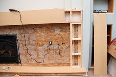 Redoing your fireplace mantel