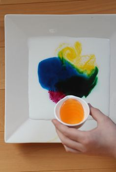 food coloring + milk (2%+) + cheap dishsoap = great art! experience!!!