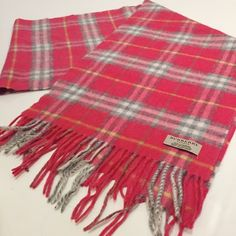 "BURBERRY Plaid Cashmere Scarf Authentic Burberry Cashmere Scarf. -Pink and Gray, perfect for Spring!  -65.5"" Long -12"" Wide -100% Cashmere. -Like new condition, no flaws.  NO Trades. Please make all offers through offer button. Burberry Accessories Scarves & Wraps"