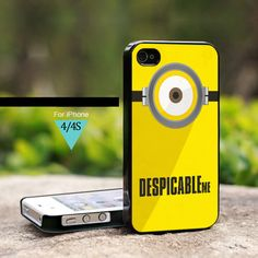 Despicable Me Minion Cute- For iPhone 4/4s Case, Hard Cover