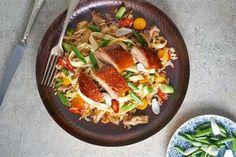 Pečená kachna s restovanou rýží