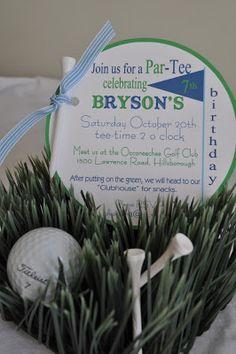 Golf birthday party... Cute idea